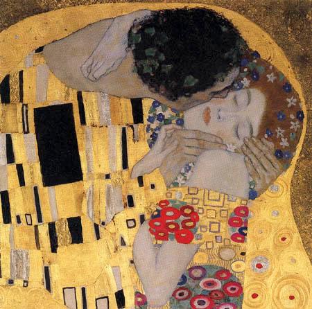 Gustav Klimt - The Kiss, Detail