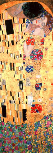 Gustav Klimt - The kiss, detail