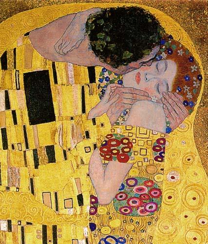 Gustav Klimt - Der Kuss, Detail