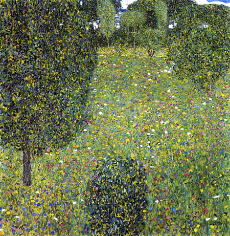 Gustav Klimt - Blühender Garten, Gartenlandschaft
