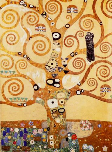 Gustav Klimt - Der Lebensbaum, Mittelteil Stoclet-Fries