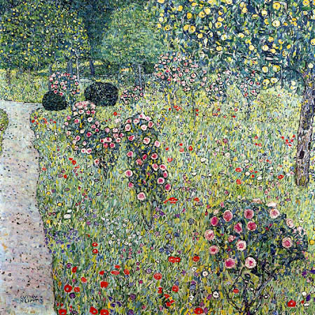 Gustav Klimt - Garden with roses