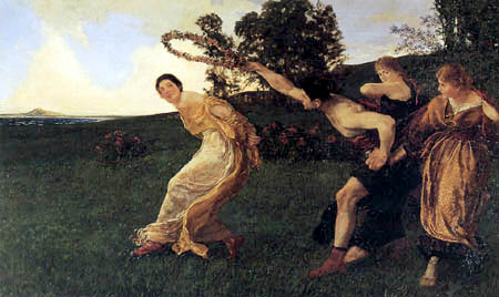 Max Klinger - Evening, play with the chaplet