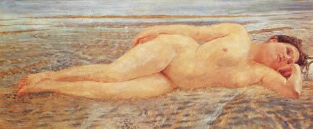 Max Klinger - Woman on the Beach