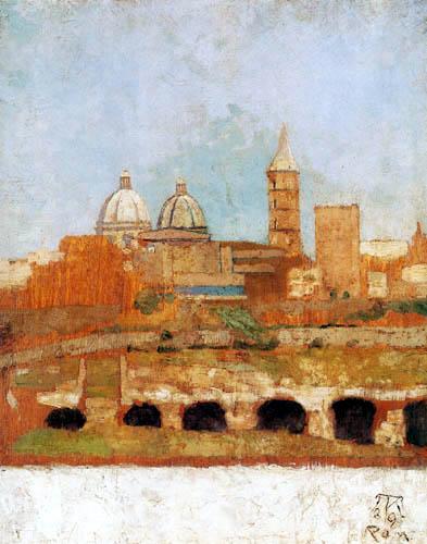 Max Klinger - View of Santa Maria Maggiore, Rome