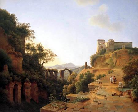 Josephus Augustus Knip - Burg vor dem Golf von Neapel