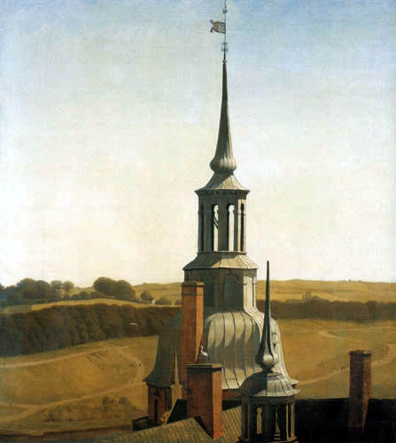 Christen Købke - The small tower of Frederiksborg Castle