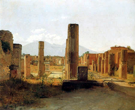 Christen Købke - The Forum, Pompeii