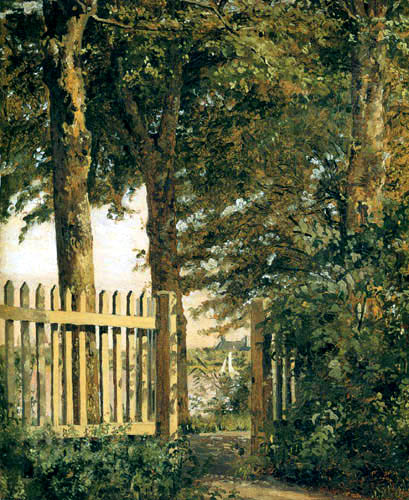 Christen Købke - Garden gate under trees