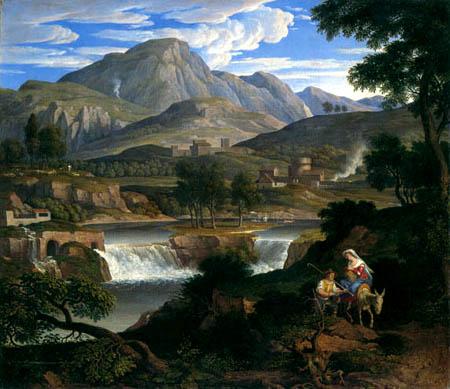 Joseph Anton Koch - Wasserfälle bei Subiaco