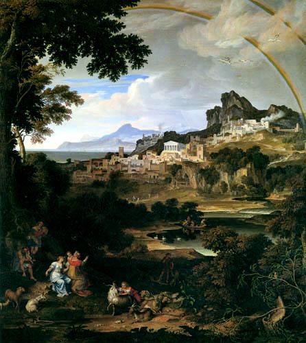 Joseph Anton Koch - Landschaft mit Regenbogen