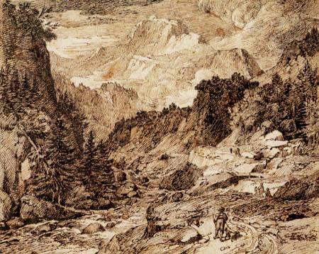 Joseph Anton Koch - Blick auf die Jungfrau vom Lütschinental