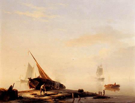 Jan Hermanus K. Koekkoek - A Shipyard near the Sea