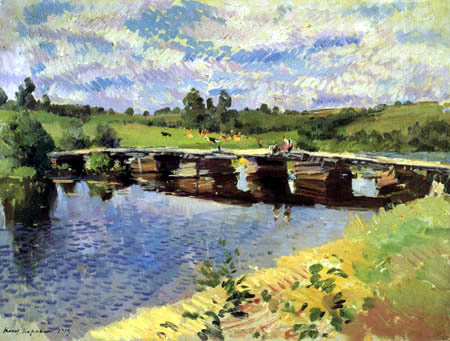 Konstantin Alekseyevich Korovin - Bridge to the Village