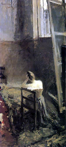 Konstantin Alexejewitsch Korowin - Im Atelier des Künstlers