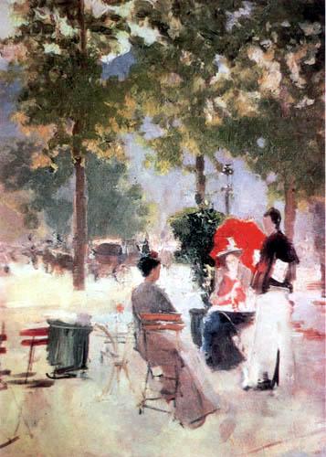 Konstantin Alexejewitsch Korowin - Pariser Café