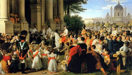 Johann Peter Krafft - The Invasion of Emperor Franz Joseph I of Austria in Vienna, 1814
