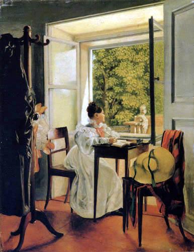 Johann Peter Krafft - Marie Krafft at the desk