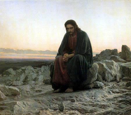 Iwan Nikolajewitsch Kramskoj - Christ in the desert