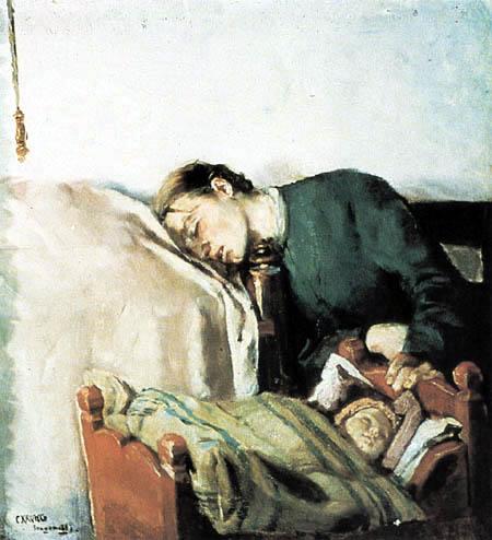 Christian Krohg - Tine Gaihede schlafend