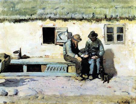 Christian Krohg - Deux pêcheurs sur une banque