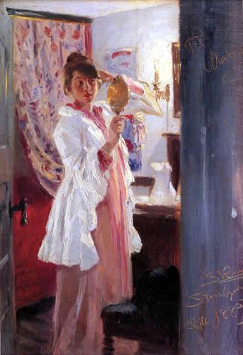 Peder Severin Krøyer - Maria beim frisieren