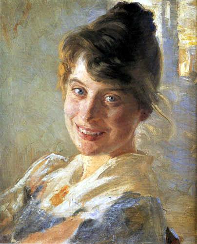 Peder Severin Krøyer - Portrait de l'épouse del artiste, Marie