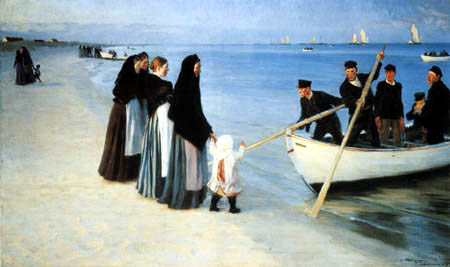 Peder Severin Krøyer - The Departure of the Fishing Fleet