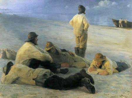 Peder Severin Krøyer - Fishermen on Skagen's Beach