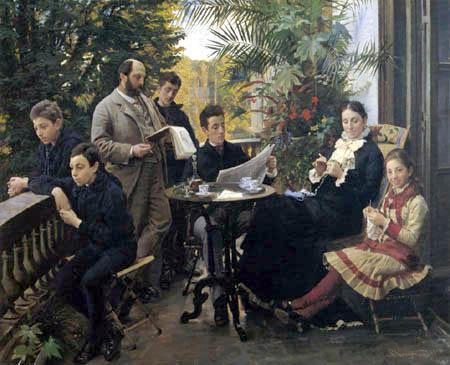 Peder Severin Krøyer - Portrait of the Hirschsprung Family