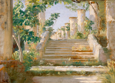 Peder Severin Krøyer - Loggia à Ravello