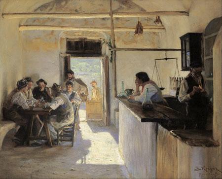 Peder Severin Krøyer - Bar dans Ravello
