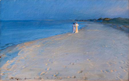 Peder Severin Krøyer - Noche de verano en la playa del sur, Skagen