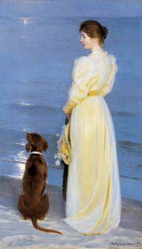 Peder Severin Krøyer - Summer evening in Skagen