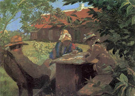 Peder Severin Krøyer - Anna and Michael Ancher in the old garden