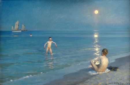 Peder Severin Krøyer - Garçons baignade à Skagen, Soirée d'été