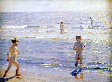 Peder Severin Krøyer - Bathing boys