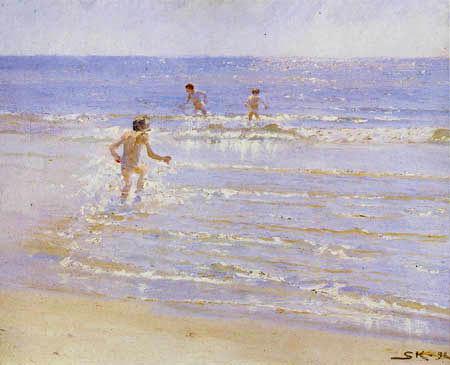 Peder Severin Krøyer - Garçons dans la plage