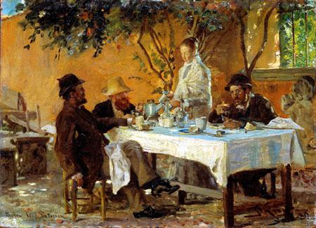 Peder Severin Krøyer - Breakfast in Sora