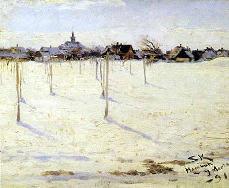 Peder Severin Krøyer - Hornbæck in the winter