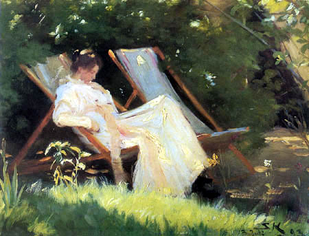Peder Severin Krøyer - In the garden, Skagen