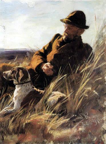 Peder Severin Krøyer - Hunter with dog