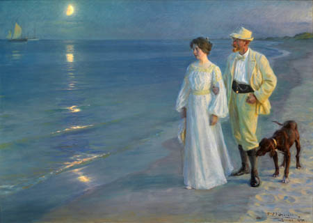 Peder Severin Krøyer - On the beach of Skagen