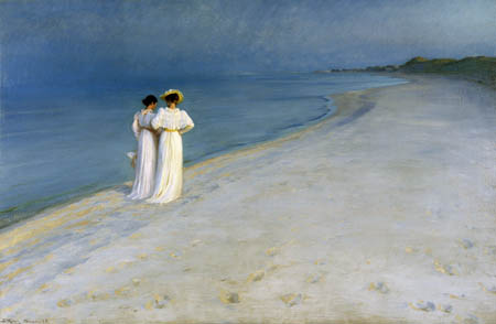 Peder Severin Krøyer - Summer evening at the southern beach of Skagen
