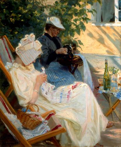 Peder Severin Krøyer - Zwei Frauen im Garten