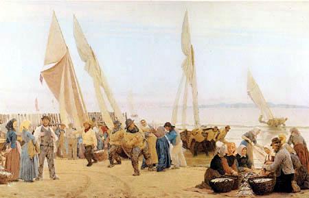 Peder Severin Krøyer - Le matin près de Hornbeck