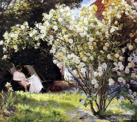 Peder Severin Krøyer - Garden of Roses, Skagen
