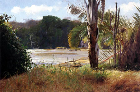 Wilhelm Kuhnert - Paisaje en África