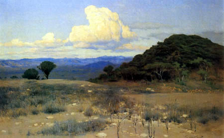 Wilhelm Kuhnert - Evening in Africa