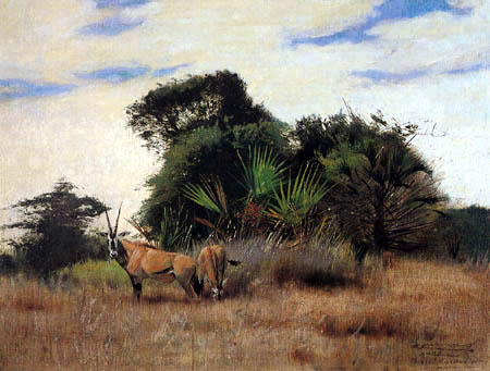 Wilhelm Kuhnert - Antelopes in East Africa